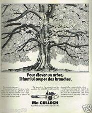 Publicité Advertising 1973 Les Tronconneuses Mc Culloch