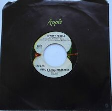 *PAUL & LINDA McCARTNEY Uncle Albert admiral..Ex to NM- CANADA 1971 APPLE 45 7""