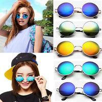 Vintage Retro Unisex Women Men Mirror lens Round Glasses Steampunk Sunglasses