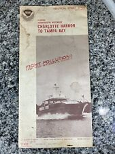 Vtg 1977 FL Charlotte Harbor To Tampa Bay Nautical Chart 11425 Map 16th Ed. NOAA