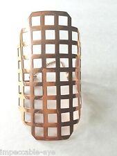 $750+ PIERRE HARDY DESIGNER ROSE GOLD WIDE CUFF BRACELET MODERN BOLD STATEMENT