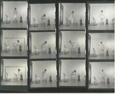 Hendrickson PHOTO Contact Sheet & Negatives Nude Model Bath in Bucket Olden Days