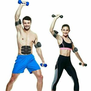 3 x Electric Abs Arms muscle stimulator Kit Toning Fitness Trainer Belt