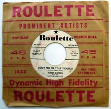 Jimmy Bowen 45 Ever Since That Night / Don'T Tell Me Promo Rockabilly W1190