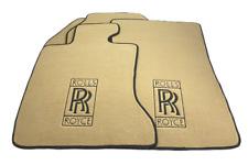 Floor Mats For Rolls Royce Phantom Sedan Beige Carpets With RR Emblem LHD NEW