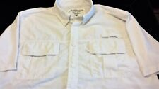 CLEARWATER OUTFITTERS Men's Short Sleeve Shirt XL WHITE Fishing Hiking X-LARGE