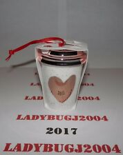 STARBUCKS 2017 HEART OF GOLD CHRISTMAS CUP ORNAMENT - NEW - SHIPS FREE IN BOX