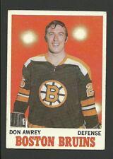 Don Awrey Boston Bruins 1970-71 Topps Hockey Card #4  NM