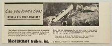 1957 Print Ad Mastercraft Boat Trailers Middletown,Connecticut