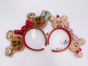 Cute Edition Disney Parks Christmas Gingerbread Minnie Ears Bow 2020 Headband