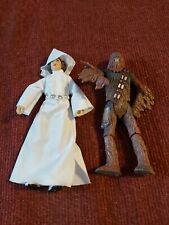Star Wars Princess Leia And Chewbacca Loose Figures 4inch good condition