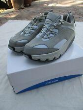 MBT Himaya petrol blue gray leather suede mesh sneakers trainer 40 9 9.5 NIB new