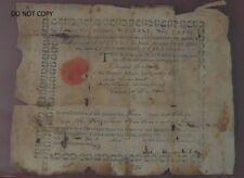 Original 1784 Land-Office Military Warrant No.3559 : Virginia officers/soldiers