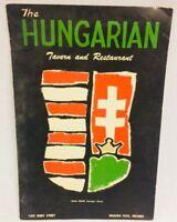 Hungarian Tavern Restaurant Menu Vintage Niagara Falls Canada 1329 Ferry Street