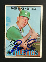 Roger Repoz A's Athletics signed 1967 Topps baseball card #416 Auto Autograph 2