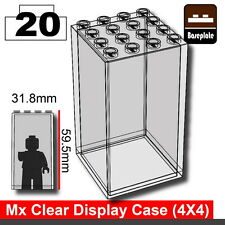 Clear Minifigure display case (W284) compatible with toy brick minifigs