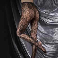 Couture Ultimates Ladies Tights Seamless Ladder Proof Alexandra Lace Net Black Medium
