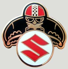 SUZUKI CAFE RACER ACE MOTORCYCLE BIKER ENAMEL PIN BADGE