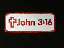 JOHN 3:16 MOTORCYCLE BIKER PATCH CHRISTIAN JESUS ROCKER IRON-ON EMBROIDERED
