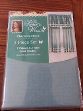Pioneer Woman Charming Check 3 Pc Window Curtains #1