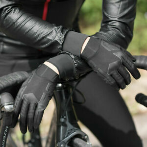 RockBros Spring Summer Cycling Gloves Full Finger Gloves Touch screen Black New