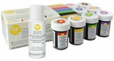 Wilton 8 Icing Colour Kit + White White Liquid