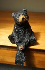 Bear & Cub Shelf Sitter Figurine Rustic Log Cabin Primitive Lodge Home Decor New