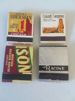 4 matchbooks of Hotel Sherman, Hotel Morrison, Hotel Racine and The Grand Canyon