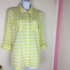 NEWT Splendid Woman's Blouse Size Small  Yellow/white stripes Retail $199.99