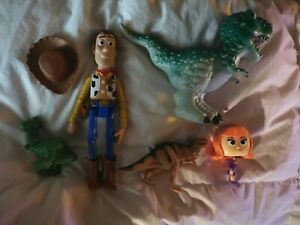 Toy story 4 Woody T Rex bundle x 5 scooby doo Nodding doll