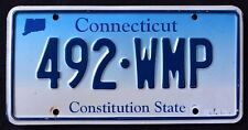 "CONNECTICUT "" CONSTITUTION STATE - BLUE MAP - 492 WMP "" CT Graphic License Plate"