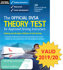DVSA Theory Test DVD-ROM for Driving Instructors ADIs PDIs  2019/20 Valid