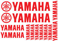 14 x YAMAHA REPLACEMENT DECALS - SET OF 14 VINYL STICKERS / 18 DIFFERENT COLOURS