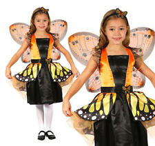 Childrens Butterfly Fancy Dress Costume Girls Halloween Outfit Kids Childs L