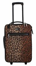 NEW DOLCE & GABBANA Bag Luggage Trolley Cabin Suitcase Leopard Travel Womens