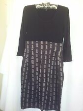 Pingpong ladies dress size black and grey size