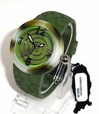 VON DUTCH $325 MENS ARMY KHAKI GREEN CAMO BIG RUGGED SWISS WATCH SM99MOG00POG