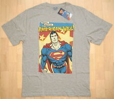 Supermann Superman T-Shirt Grau Gr. XL (L) 54/56 *NEU*