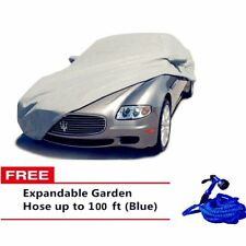 Waterproof Lightweight Nylon Car Cover Sedan with Expandable Hose 100ft