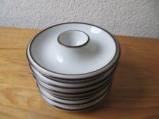 6 Eierbecher Thomas Scandic Shadow 14 cm weiß braun Kult 60er 70er Retro