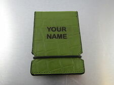 Sunfish Golf Leather Billfold Wallet Money Green Gator Crock Print Your Name