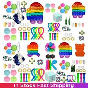 1-28 Pack Fidget Sensory Toy Set Stress Reliever Autism Anxiety Kids Adults Toy