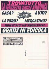 LA GAZZETTA DEGLI ANNUNCI  R@R@ CARTOLINA PUBBLICITARIA ANNI 80 -48013