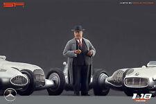 1/18 Alfred Neubauer figure VERY RARE !!! for 1:18 Autoart Exoto CMC Mercedes