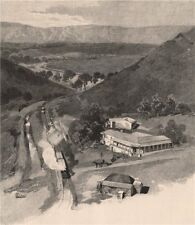Saltia, PICHI RICHI Pass. South Australia 1888 old antique print picture