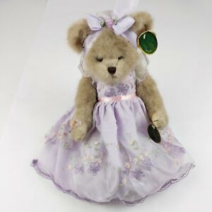 Bearington Bear Bella Butterfly Musical Limited Edition 2007 Purple Dress
