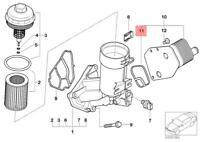 Genuine BMW E46 E90 E60 520d M47N2 Engine Oil Filter Housing Gasket 11427787699