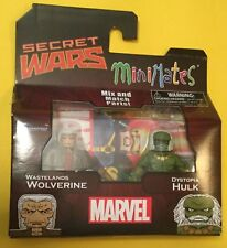"Marvel Minimates Wastelands Wolverine Dystopia Hulk Action Figure 2"" SECRET WARS"