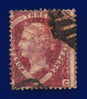 1870 SG52 1½d Lake-Red Plate 1 G6(2) EC Misperf Good Used Cat £110 cvpt
