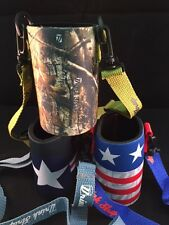 Camo American Air Force One Drink Cooler Koozie Necklace Drinkstrap New 3 Pack